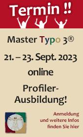Ausbildung Master Typo 3 Profiler
